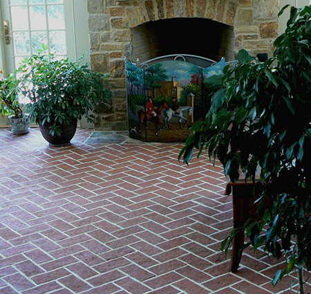 natural brick floor